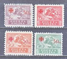 POLAND B 11-14  Perf. 9   *  RED  CROSS - 1919-1939 Republic