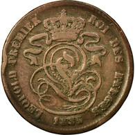 Monnaie, Belgique, Leopold I, 2 Centimes, 1835, TB, Cuivre, KM:4.1 - 1831-1865: Léopold I
