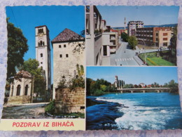 Bosnia Hercegovina - Unused Postcard - Bihac - Church - Bridge - River - Bosnie-Herzegovine