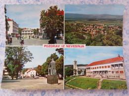 Bosnia Hercegovina - Unused Postcard - Nevesinje - Multiview - Statue - Church - Panorama - Bosnie-Herzegovine