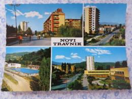 Bosnia Hercegovina - Unused Postcard - Novi Travnir - Multiview - Buildings - Pool - Bosnie-Herzegovine