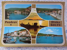 Bosnia Hercegovina - Unused Postcard - Otoka - Solte - Multiview Coast Boat Ship - Bosnie-Herzegovine