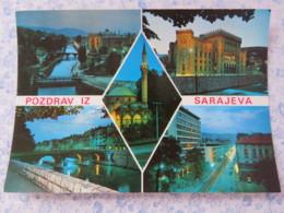 Bosnia Hercegovina - Unused Postcard - Sarajevo - River Bridges Mosque Palace - Bosnie-Herzegovine