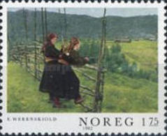 USED  STAMPS Norway - Paintings - 1977 - Oblitérés