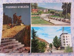 Bosnia Hercegovina - Rep. Srpska - Unused Postcard - Bileca - Multiview - Statue - Bosnie-Herzegovine