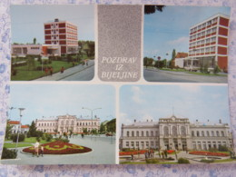 Bosnia Hercegovina - Rep. Srpska - Unused Postcard - Bijeljina - Multiview - Buildings - Palace - Bosnie-Herzegovine