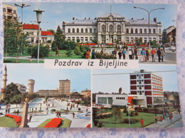 Bosnia Hercegovina - Rep. Srpska - Unused Postcard - Bijeljina - Multiview - Buildings - Palace - Mosque - Bosnie-Herzegovine