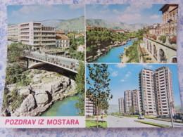 Bosnia Hercegovina - Unused Postcard - Mostar - Buildings - Bridge - River - Bosnie-Herzegovine
