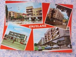 Kosovo - Unused Postcard - Gnjilane - Multiview - Mosque - Cars - Statue - Kosovo