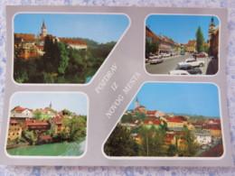 Slovenia - Unused Postcard - Novo Mesto - Multiview - Church - Cars - Panorama - Slovénie