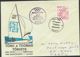 50-519 Estonia Barcelona Olympics 1992 - Estonie