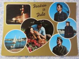 Slovenia - Unused Postcard - Pula - Multiview - Heart - Boats - Uniforms - Slovénie