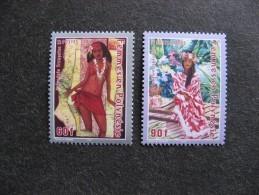 Polynésie: TB Paire N° 740 Et N° 741, Neufs XX. - Neufs