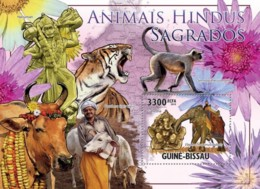 Guinea Bissau 2010  Holy Animals By Hinduism Tiger  Fauna - Guinea-Bissau
