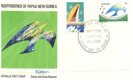 (CH 6) Australia FDC Cover - 1975 - Papua New Guinea Independence (Tmaworth Postmark) - Premiers Jours (FDC)