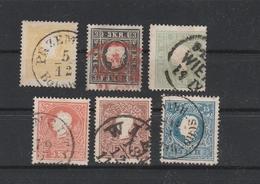 Mi. Nr. 10 II - 15 II Gestempelt, Mi. 470,-- - 1850-1918 Imperium