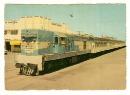 Australia, Queensland (QLD), Capricorn Coast, Rockhampton, 'Sunlander' Train, Swan Hotel, Railway Locomotive, Postcard - Rockhampton
