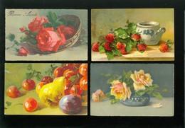 Beau Lot De 20 Cartes Postales De Fantaisie Genre Illustrateur Catharina Klein ( Pas Signée ) Fleur     20 Postk.  Bloem - Cartes Postales