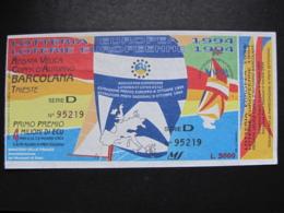 BIGLIETTO LOTTERIA EUROPEA 1994 - COMPLETO DI TAGLIANDO FDS - Biglietti Della Lotteria