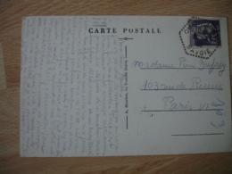 Champagny 74 Recette Auxiliaire Obliteration Sur Lettre - Marcophilie (Lettres)