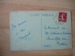 Jouhet Vienne Recette Auxiliaire Sur Lettre - Marcophilie (Lettres)