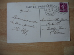 Dieval 62  Recette Auxiliaire Sur Lettre - Marcophilie (Lettres)