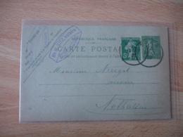 Liberation Alsace Barr Cachet Provisire Francais Sur Entier Postal - Marcophilie (Lettres)