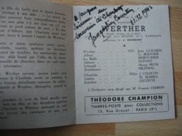 Autographe Signature  Jacqueline Courtin  Artiste Sur Programme Theatre Opera Comique - Autographs