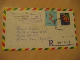 LA PAZ 1975 To Buenos Aires Argentina 2 Flower Fruit Stamp Cancel Air Mail Cover BOLIVIA - Bolivia