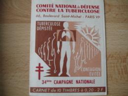 Erinnophilie  Carnet  34 Eme Compagnie Nationale Du Lait Chaque Jour    Vignette Timbre - Erinnophilie