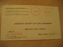 LA PAZ 1965 To New York USA Registered Cancel Meter Air Mail Cover BOLIVIA - Bolivia