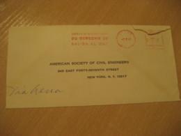 LA PAZ 1963 To New York USA Derecho Salida Al Mar Cancel Meter Air Mail Cover BOLIVIA - Bolivia