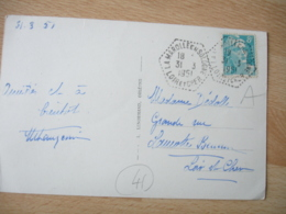 La Marolle En Sologne Recette Auxiliaire Obliteration Sur Lettre - Marcophilie (Lettres)