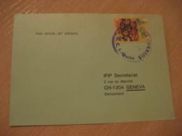 QUITO 1980 To Geneva Switzerland Stamp Cancel Air Mail Card ECUADOR - Ecuador
