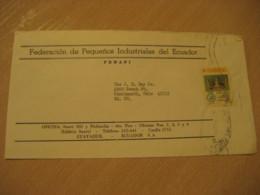 GUAYAQUIL 1975 To Cincinnati USA Stamp Cancel Air Mail Cover ECUADOR - Ecuador