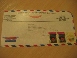 QUITO 1979 To Cincinnati USA Cactus Stamp Cancel Air Mail Cover ECUADOR - Equateur