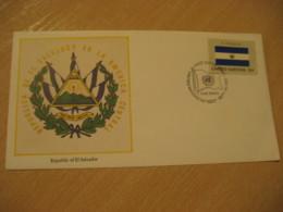 United Nations New York USA 1980 Flag FDC Cancel Cover EL SALVADOR - El Salvador