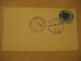 RODEO 1896 Recibida SAN MARCOS 6 Centavos Stair Overprinted 5 Centavos Postal Stationery Cover GUATEMALA - Guatemala
