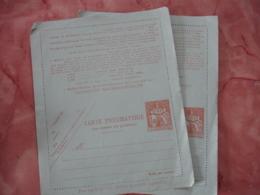 Lot De 2 Carte Pneumatique  Chaplain 1 .60  Entier Postal - Entiers Postaux