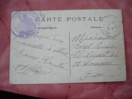 Le Havre Hopital Tempraire 8  Cachet Franchise Postale Militaire Guerre 14.18 - Guerre De 1914-18