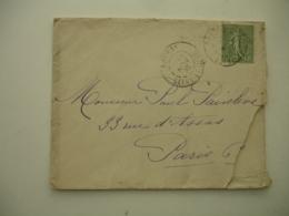 Daguin Double Jumele  Bouray 1903 - Marcophilie (Lettres)