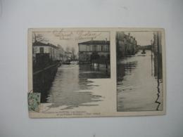 Saintes Vue Double Les Beaupeux Et Rue Frederic Mestreau Inondation Inondations - Saintes