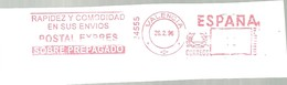 FRANQUEO MECANICO   1996  VALENCIA   FRONTAL 6 X 15 - Marcofilia - EMA ( Maquina De Huellas A Franquear)