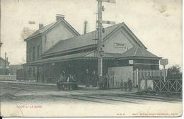 Dour,La Gare 1905 - Dour