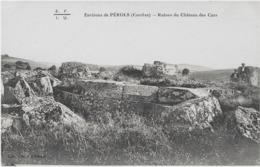 ENVIRONS DE PEROLS - RUINES DU CHATEAU DES CARS - ANIMEE - VERS 1900 - France