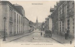 Carte Postale Ancienne De Cusset Le Boulevard Et L'orphelinat - France