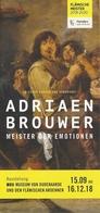 Exposition Adrian Brouwer, Meister Der Emotionen - Oudenaarde 2018 - Peinture - Dépliants Touristiques