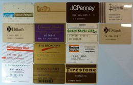 USA - Group Of 14 Mixed Merchant Credit Cards - Used - Cartes De Crédit (expiration Min. 10 Ans)