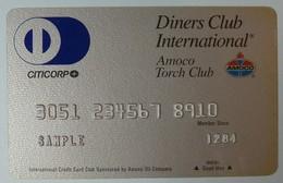 USA - Credit Card - DINERS CLUB - Amoco Torch Club - 1284 - SAMPLE - CITICORP - Krediet Kaarten (vervaldatum Min. 10 Jaar)