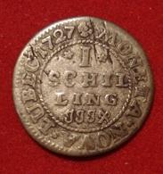 ALLEMAGNE. LUBECK 1 SCHILLING 1727. ARGENT. SILVER. GERMAN STATES. GERMANY. - [ 1] …-1871 : German States